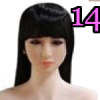 Wig 14: Long Black Bangs